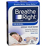 Breathe Right Nasal Strips Original Tan Large 30 Each (Pack of 12)