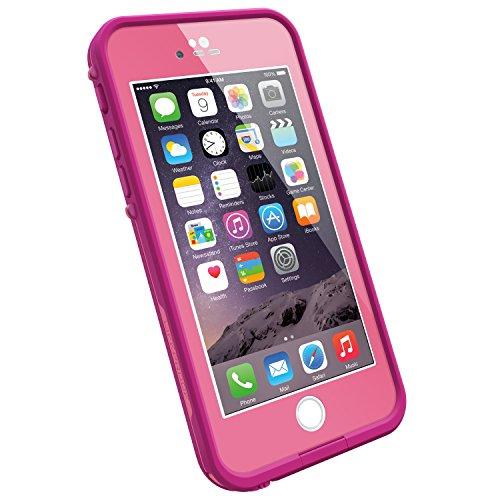 LifeProof FRĒ iPhone 6 ONLY Waterproof Case (4.7' Version) - Retail Packaging - POWER PINK (LIGHT ROSE/DARK ROSE)