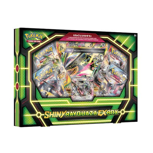 Pokemon TCG: Shiny Rayquaza-EX Box Card Game