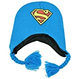 DC Comics Superman Man of Steel Peruvian Knit Beanie Laplander Hat Kids Hero