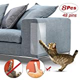 8 Pcs Cat Furniture Protectors,4 Pack X-Large (20'L x 12'W) + 4 Pack Large (20'L x 8'W) Cat Scratching Pad, Pet Scratch Protector for Sofa,Upholstery, Wall, Mattress