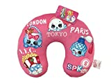 Shopkins Squad Pink Plush 11' x 13' Neck Pillow with Poppy Corn, Handbag Harriet, Petite Perfume & Sushanne (Official Shopkins Product)