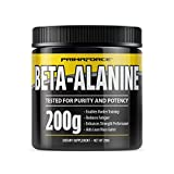 PrimaForce Beta-Alanine Powder Supplement, 200 Grams - Enables Harder Training / Improves Muscle Gains / Increases Workout Capacity / Reduces Muscle Fatigue