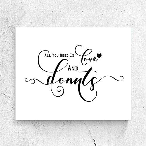 Download Amazon.com: All You Need Is Love and Donuts Sign Chic ...