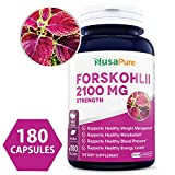 100% Pure Forskolin 2100mg Per Veggie Caps - 180 Capsules (Non-GMO & Gluten Free) - Weight Loss Fuel - Belly Buster Fat Burner - The Stronger The Better - 100% Money Back Guarantee - Order Risk Free!