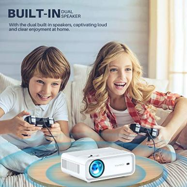 VIVIMAGE-Explore-2-Mini-WiFi-Projector-5000-Lux-1080P-Supported-Projector-40000-Hours-Lamp-Life-with-Synchronize-Smartphone-Screen-Compatible-with-TV-Stick-HDMI-TV-Box-PS4-Include-Tripod