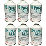 Six (6) 12oz Cans of DuPont Suva R134a Automobile Refrigerant/Freon (6 Cans)