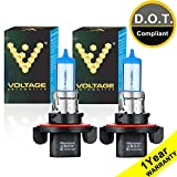Voltage Automotive H13 9008 Headlight Bulb Polarize White Replacement (Pair) - Professional Upgrade Head Light Bulb