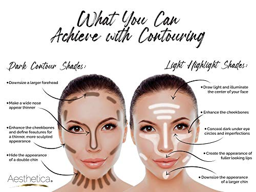 Aesthetica Cosmetics Cream Contour And Highlighting Makeup Kit Contouring Foundation Concealer Palette Vegan Cruelty Free Hypoallergenic Step By Step Instructions Included Pricepulse
