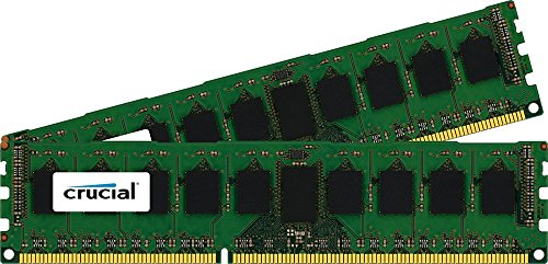 Crucial 16GB Kit (8GBx2) DDR3/DDR3L-1600MT/s (PC3-12800) DR x8 ECC UDIMM Server Memory CT2KIT102472BD160B/CT2CP102472BD160B