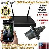 Zeus Pro Series WiFi Floodlight Home Security Camera Kit (ZCPRO-0801)