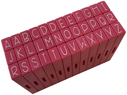 Pink and Main Pegz (36-Piece) Curvy Girl Font Stamps Upper, Pink