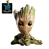 Creative Groot Planter Pot Guardians of The Galaxy Flowerpot Baby Groot Action Figures Cute Model Toy Pen Pot Pencil Holder Best Gifts for Kids (Love Heart Groot)