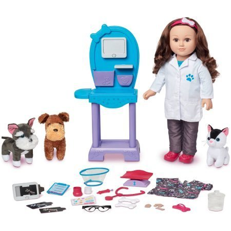 My Life As 18 Doll of the Year Vet Doll Play Set, Caucasian with Brown Hair by myLife Brand Products