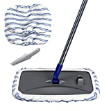 Large Area Flat Mop with 2 Mop Pads Hardwood Floor Cleaning Microfiber Wet Mops Masthome