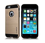 iPhone 6 Case,Verus VERGE Hybrid Dual Layered Case Anti-Shock Shockproof Back Cover/ iPhone 6s/ Heavy Duty Dual Layer Protection Cover for iPhone [Slim Fit] 6/6s commuter style - Gold (Gold)