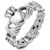 West Coast Jewelry | ELYA Stainless Steel Claddagh with Celtic Knot Promise Ring - Size 7