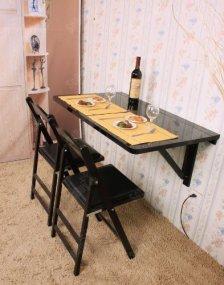 Wandtisch inkl. Klapp Hocker Wand Klapptisch Klappstuhl Küchentisch Weiß