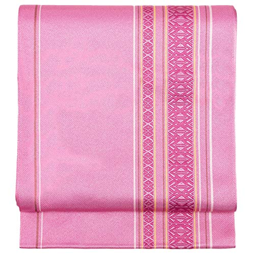 KYOETSU Women's Japanese Kimono Obi Belt Nagoyaobi Washable KS6 (D.pink)
