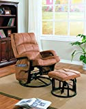 Product review for Coaster Glider & Ottoman-Brown