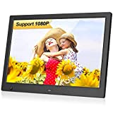 MRQ 13.3 Inch Digital Photo Frame, 1280x800 HD Picture Video(1080P) Frame with Auto-Rotate, Motion Sensor, E-Book, Calendar, Alarm, Supports Multiple File Formats and External USB and SD Card-Black