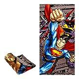 "JPI DC Comics Superman Bath/Pool/Beach Towel - Superman Daily News - Officially Licensed - Super Soft - 30"" x 60"" - 100% Cotton"