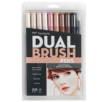 Tombow DBP10-56170 Dual Brush Pen Art Markers, Portrait, 10-Pack