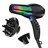 INFINITIPRO BY CONAIR 1875 Watt Ion Choice Hair Dryer, Rainbow finish