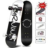 Easy_way Complete Skateboard -Standard Skateboard for Beginner Starter Kids Boys Girls Youths - 31''x 8''Canadian Maple Pro Cruiser Standard Skate Boards