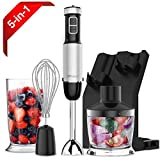 XProject 800W 4-in-1 Hand Blender with 6 Speed,Powerful Immersion Hand Blender for Smoothies Baby Food Yogurt Sauces Soups