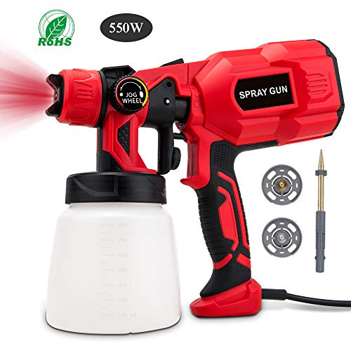 BOZILY Paint Sprayer, Electric HVLP Spray Gun with 3 Adjustable Spray Patterns and Flow Control, Lightweight and Detachable, Easy Spraying and Cleaning, Perfect for Painting Projects