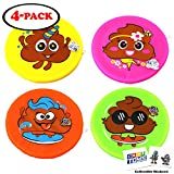 16' Diameter Large Poop Emoji Nylon Fabric Flying Disc Big Beach Frisbee Outdoor Sports Soft Saucers with 2 GosuToys Stickers