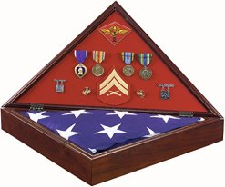 SpartaCraft Official Marine Corps Military Shadow Box