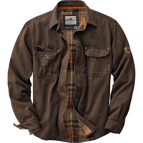 Legendary Whitetails Men's Journeyman Rugged Shirt Jacket Tobacco X-Large