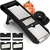Fullstar Adjustable Mandoline Slicer - 4 Stainless Steel Mandolin Blades - Vegetable Cutter Peeler Slicer Grater & Julienne Food Slicer