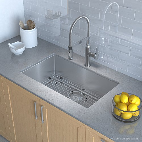 Best kitchen sink reviews top picks and ultimate buying guide 2018 kraus khu100 30 1640 42ch kitchen sink and faucet combo handmade undermount stainless workwithnaturefo