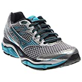 Mizuno Women's Wave Enigma 5 Running Shoe, Silver/Blue Atoll, 6 B US
