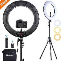 Inkeltech Ring Light - 18 inch 3000K-6000K Dimmable Bi-Color Light Ring, 60W LED Ring Light with Stand, Lighting Kit for…