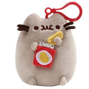 GUND Pusheen Snackable Stuffed Plush Backpack Clip, 5″ 5148yWx9leL