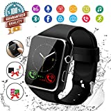 Smart Watch,Bluetooth Smartwatch Touch Screen Wrist Watch with Camera/SIM Card Slot,Waterproof Phone Smart Watch Sports Fitness Tracker Compatible Android Phones Black
