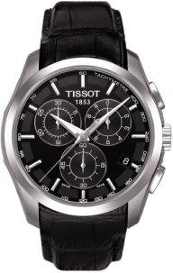 TissotT035.617.16.051.00 Men's Couturier Black Leather Swiss Quartz Watch with Black Dial