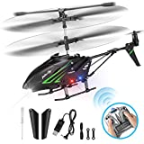 HisHerToy Remote Control Helicopter with Gyro and LED Lights 3.5 Channel RC Helicopter for Kids Adults Blade Indoor Micro Helicopter for Kids with Remote Control for Boys Girls