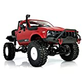 YIKESHU Rc Truck Remote Control Off-Road Racing Vehicles 1:16 2.4G 2CH 4WD Off-Road Kids RC Toy Climb Semi Truck RTR Trailer The LED Lights(C14RD)