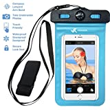 [ PREMIUM QUALITY ] Universal Waterproof Phone Holder with ARM BAND, COMPASS & LANYARD - Best Water Proof, Dustproof, Snowproof & Shockproof Pouch Bag Case for Apple iPhone, Android & All SmartPhone