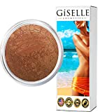 Bronzer Makeup | Gold Digger | Mineral Makeup by Giselle Cosmetics | Pure, Non-Diluted Mineral Make Up | Contour Highlight Blush Palette | Contouring Makeup Products | Facial Contouring With Bronze
