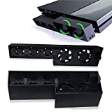 PS4 Cooling Fan,Lyyes Cooling Fan Host Cooler External Turbo Temperature Control for Playstation 4(only for PS4) (ps4 Black)