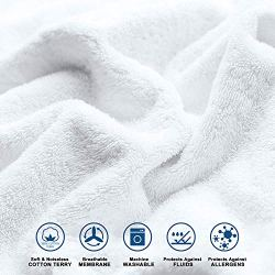 Adoric Mattress Protector, Waterproof Mattress Protector, Premium Mattress Cover Cotton Terry Surface-Vinyl Free (Full)