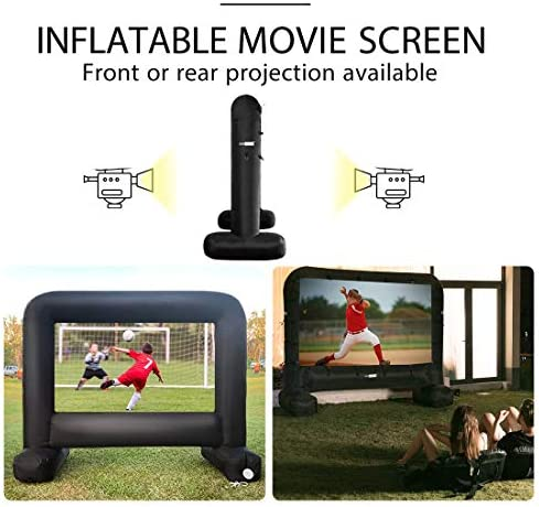 VIVOHOME 20 Feet Indoor and Outdoor Inflatable Blow up Mega Movie Projector Screen with Carry Bag for Front and Rear Projection