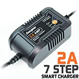 Energizer ENC2A 2 Amp Battery Charger + Maintainer 6/12V - 7 Step Smart Charging Technology That Will Improve Your Battery's Life Cycle for Car, RV or Boat