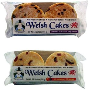Welsh Baker Welsh Cakes – 2 Flavor Variety Box – 8 Cakes – Currant and Cranberry Orange 514G7A 9CTL